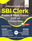 Ultimate Guide for SBI Clerk Prelim   Main Exams 2020 with 5 Online Tests  8th edition
