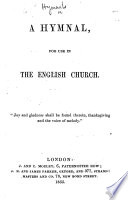 A Hymnal for use in the English Church. [Compiled by Francis H. Murray.]