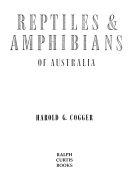 Reptiles Amphibians Of Australia Book PDF