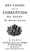 Des causes de la corruption du goust