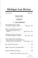 Pdf Michigan Law Review