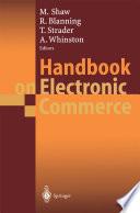 Handbook on Electronic Commerce