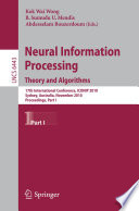 Neural Information Processing  Theory and Algorithms