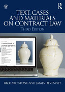 Text  Cases and Materials on Contract Law