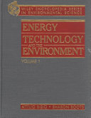 Encyclopedia of Energy Technology and the Environment Book