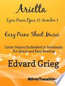 Arietta Lyric Pieces Opus 12 Number 1 Easy Piano Sheet Music Book