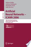 Artificial Neural Networks Icann 2006 Book PDF