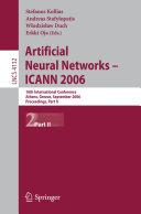 Artificial Neural Networks - ICANN 2006