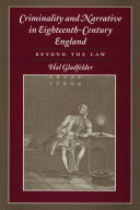 Pdf Criminality and Narrative in Eighteenth-Century England Telecharger