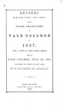 Yale University  New Haven  Conn  Class of 1837