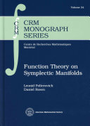 Function Theory on Symplectic Manifolds [Pdf/ePub] eBook