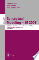 Conceptual Modeling   ER 2001