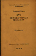 Pdf Britsh Post-War Migration