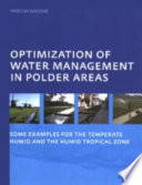 Optimization Of Water Management In Polder Areas Book PDF