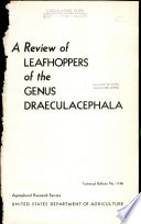 A Review of Leafhoppers of the Genus Draeculacephala Pdf/ePub eBook