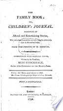 The Family Book  Or  Children s Journal     Interspersed with Poetical Pieces  Written by the Translator  Miss Stockdale