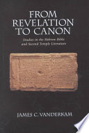 From Revelation To Canon Book