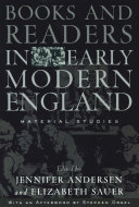 Books and Readers in Early Modern England