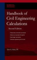 Cover of Handbook of civil engineering calculations