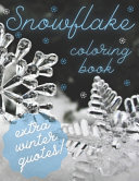 Snowflake Coloring Book Extra Winter Quotes