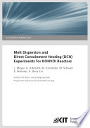 Melt dispersion and direct containment heating (DCH) experiments for KONVOI reactors