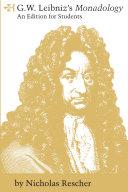 G.W. Leibniz's Monadology Pdf/ePub eBook