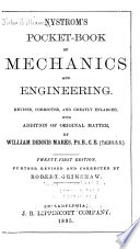 Nystrom s Pocket book of Mechanics and Engineering