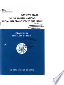 The First Twenty Five Years Of The United Nations