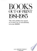 Books Out-of-print