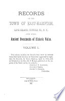 Records Of The Town Of East Hampton Long Island Suffolk Co N Y