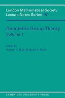 Geometric Group Theory Volume 1