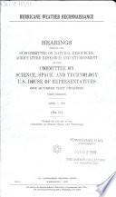 Hurricane Weather Reconnaissance Book