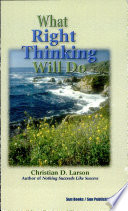 Free What Right Thinking Will Do Book