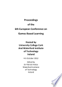 ECGBL2013-Proceedings of the 6th European Conference on Games Based Learning