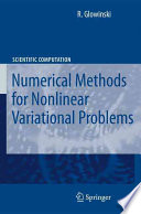 Lectures On Numerical Methods For Non Linear Variational Problems Book PDF