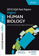 Higher Human Biology 2016-17 SQA Past Papers with Answers