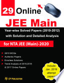 29 Online Jee Main Year Wise Solved Papers 2019 2012 With Solution And Detailed Analysis