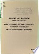 Ozark Ouachita Mountains Vegetation Management  AR OK  Book