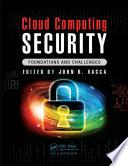 Cloud Computing Security Book