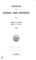 Proceedings of the National Park Conference