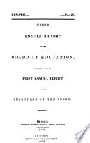 Annual Report Together With The Report Of The Secretary Of The Board