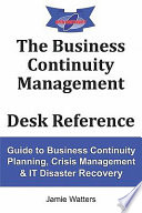 The Business Continuity Management Desk Reference Book PDF