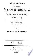 Versuch einer geschichte und charakteristik der französischen national-litteratur ...: Geschichte der französischen national-litteratur