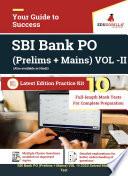 Sbi Bank Po Prelims Mains Vol 2 2020 10 Mock Test For Complete Preparation