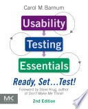 Usability Testing Essentials  Ready  Set    Test  Book