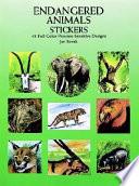 Endangered Animals Stickers  : 48 Full-Color Pressure-Sensitive Designs