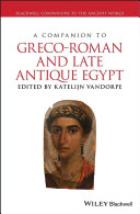 Pdf A Companion to Greco-Roman and Late Antique Egypt Telecharger