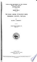 The Rose Creek Tungsten Mine  Pershing County  Nevada Book