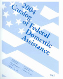 Catalog Of Federal Domestic Assistance 2004 Book