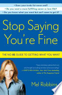Stop Saying You re Fine